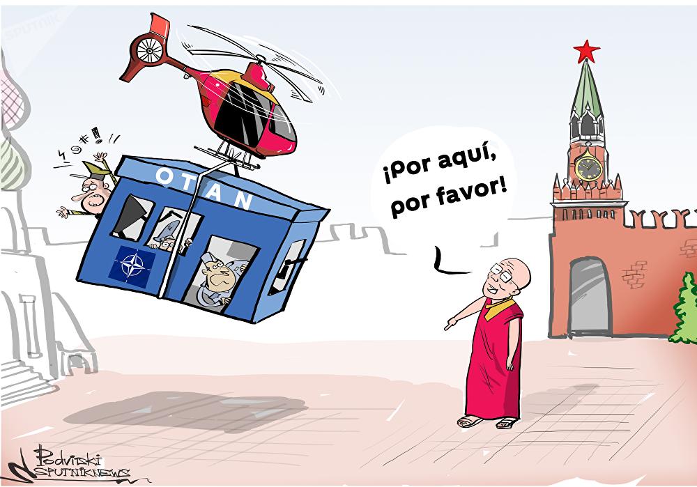 El dalái lama sabe cómo solucionar el conflicto entre la OTAN y Moscú