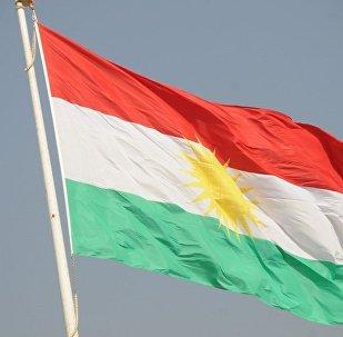 Bandera de Kurdistán (archivo)
