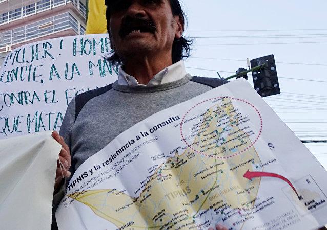 Protestas contra la construcción de una carretera
