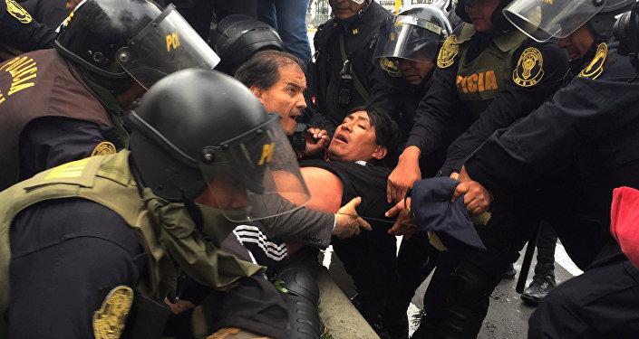 Disturbios en Perú