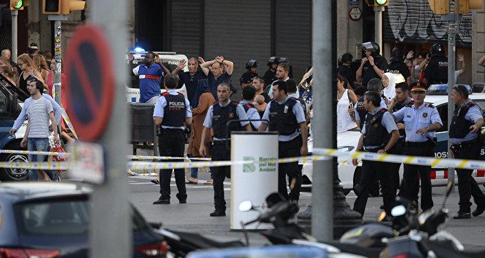 El lugar del atentado del 2017 en Barcelona (archivo)