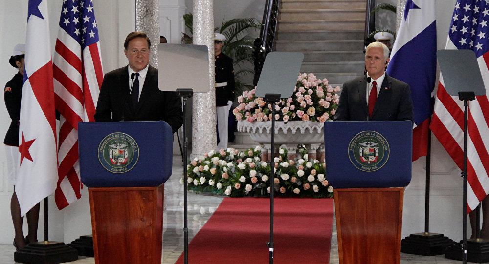 Presidente de Panamá, Juan Carlos Varela, y vicepresidente de EEUU, Mike Pence