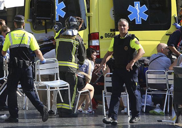 Los heridos del atentado de Barcelona (imagen referencial)