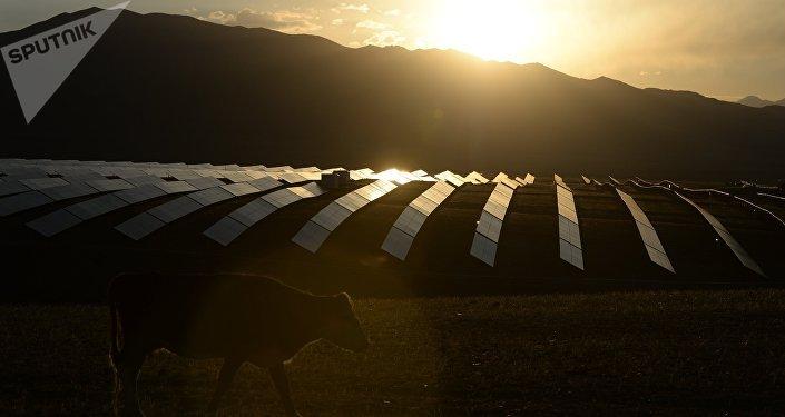 La central solar en Altai, Siberia (archivo)