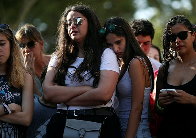 La gente tras el atentado en Barcelona