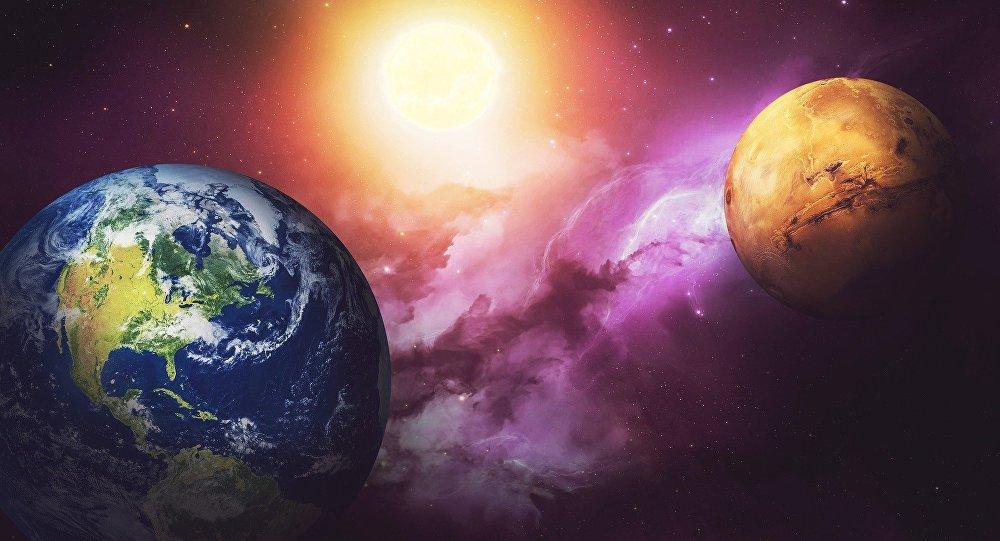 La Tierra y Marte, los dos planetas muy semejantes hace 4.000 de años cuando supuestamente ya exisitió la vida (imagen referencial)