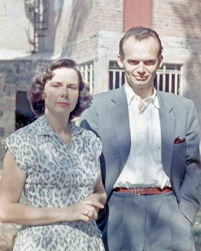 Esteban Volkov y su esposa 1959