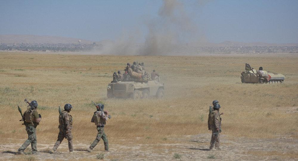 Las tropas iraquíes cerca de de Tal Afar, Irak
