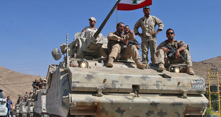 Soldados del Ejército de Líbano