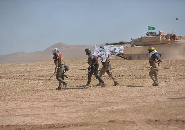 Tropas iraquíes cerca de de Tal Afar, Irak