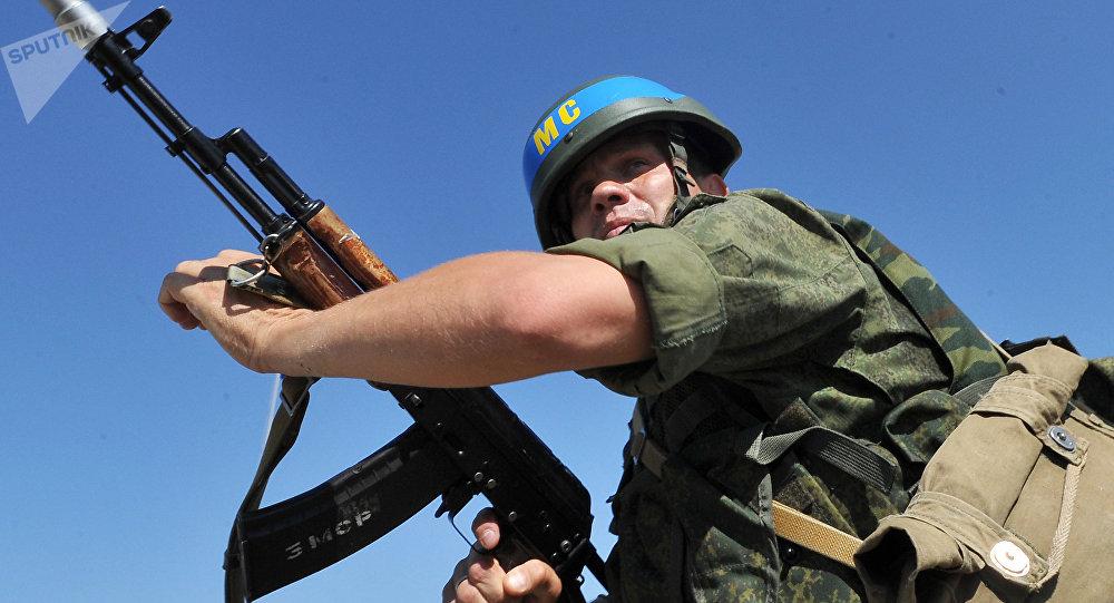 Soldado de las Fuerzas de interposición rusas