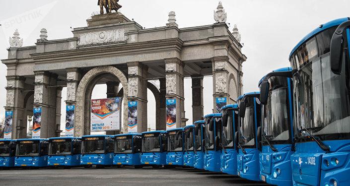 Los autobuses LIAZ fabricados por el Grupo GAZ, en Moscú (imagen referencial)