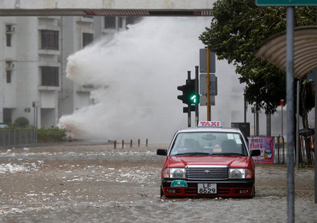 El tifón Hato en Hong Kong