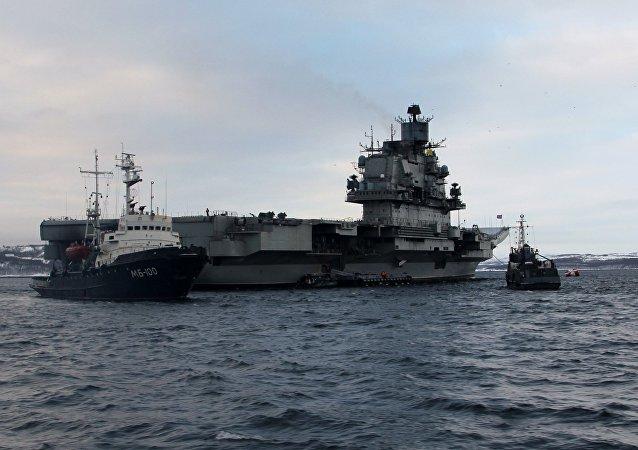 El portaviones ruso Almirante Kuznetsov