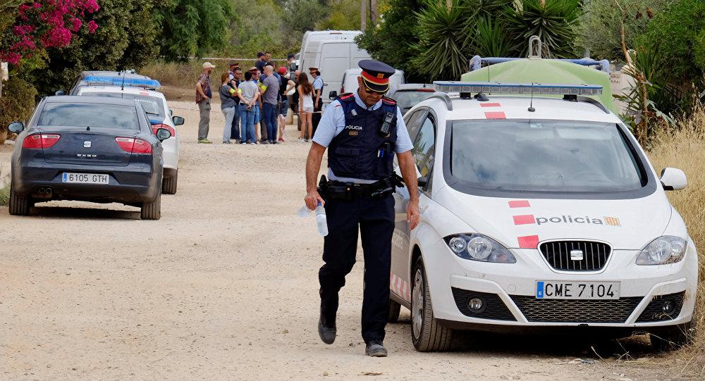 La Policía en la localidad de Alcanar, España