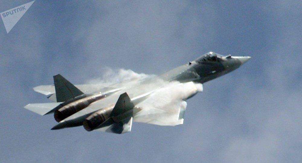 Un caza ruso Su-57 (T-50) (imagen referencial)