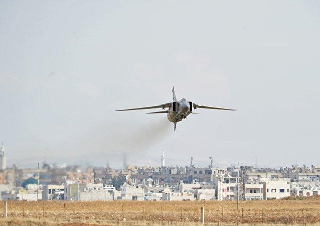MiG-23 de la Fuerza Aérea siria (archivo)