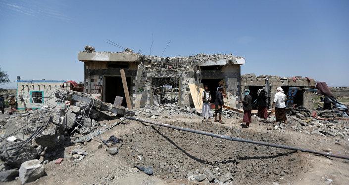 Bombardeo en Yemen (archivo)