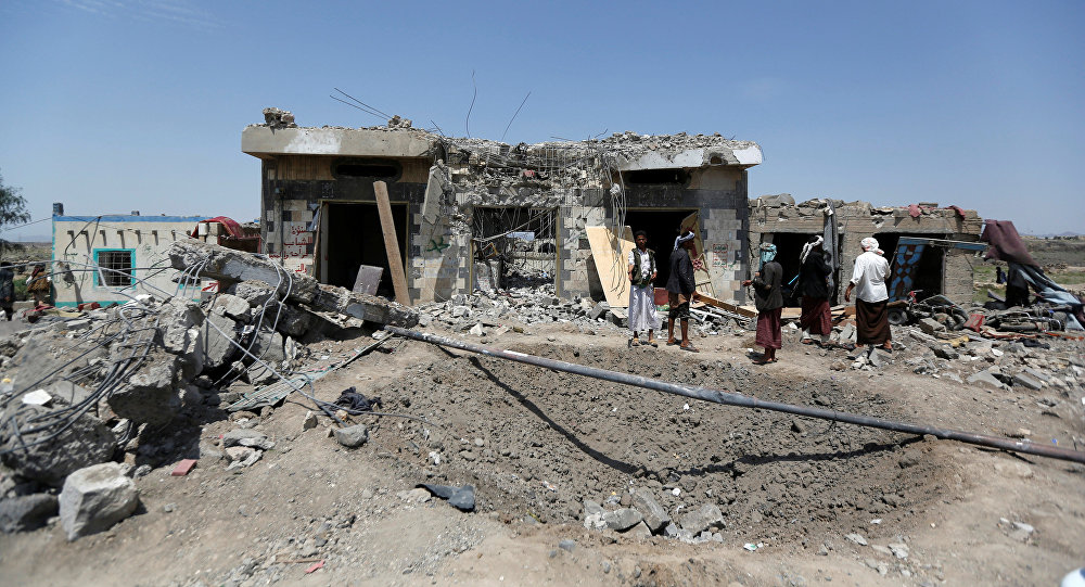 Bombardeo en Yemen