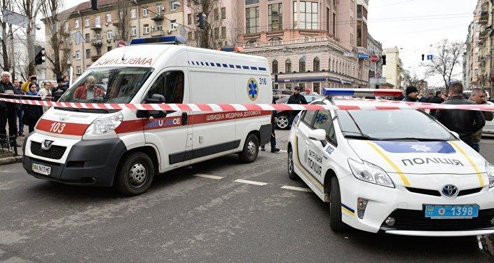 Ambulancia y Policía de Ucrania (archivo)
