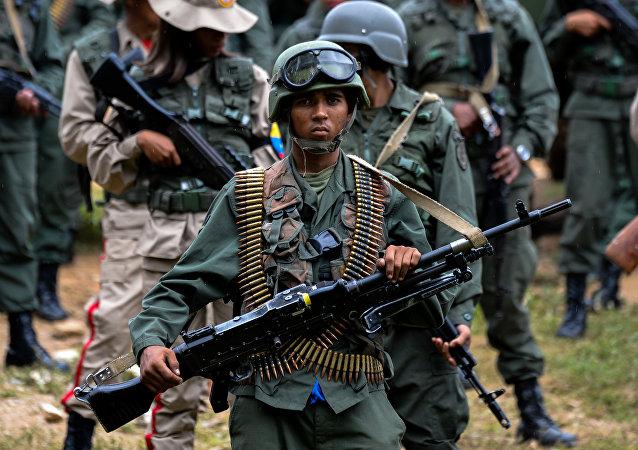 Un soldado venezolano