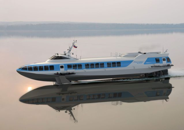 Un barco hidroala Rassvet 120P