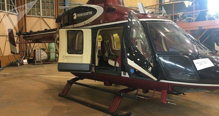 Helicóptero Ansat en la Fábrica de Helicópteros de Kazán