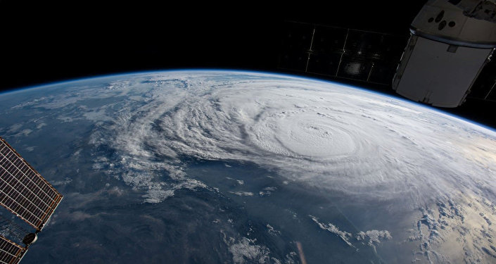 El huracán Harvey visto desde el espacio