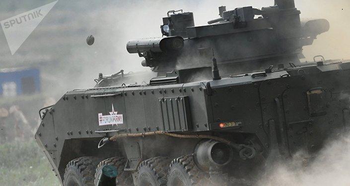 Bumerang, el nuevo vehículo blindado ruso, durante el Foro Internacional Técnico Militar Army 2017