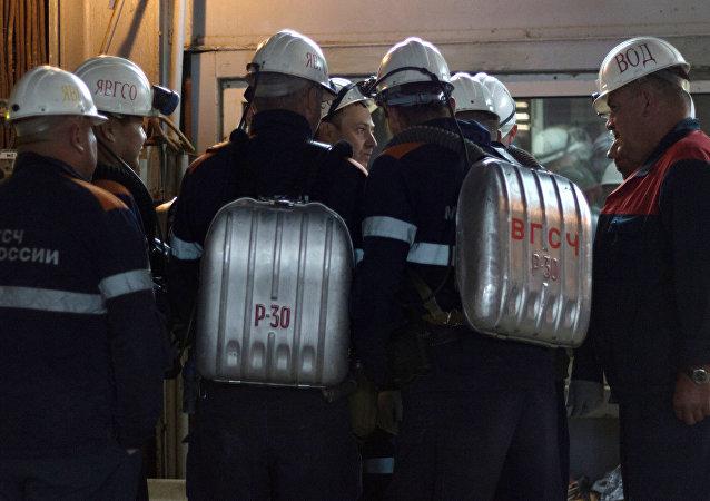 La operación de rescate en la mina Mir de Yakutia