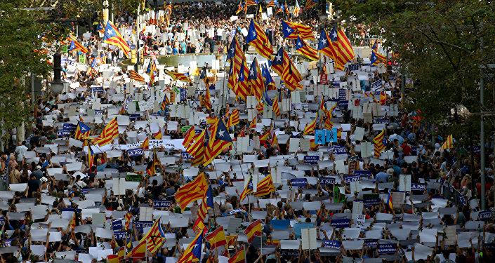 Marcha en repulsa por los atentados terroristas en Barcelona