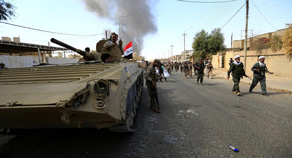 Militares iraquíes durante la operación antiterrorista en Tal Afar, Irak