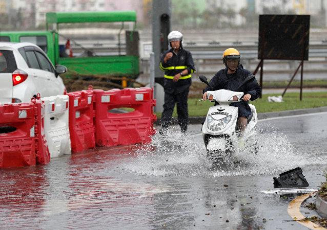 Consecuencias del tifón Pakhar en China