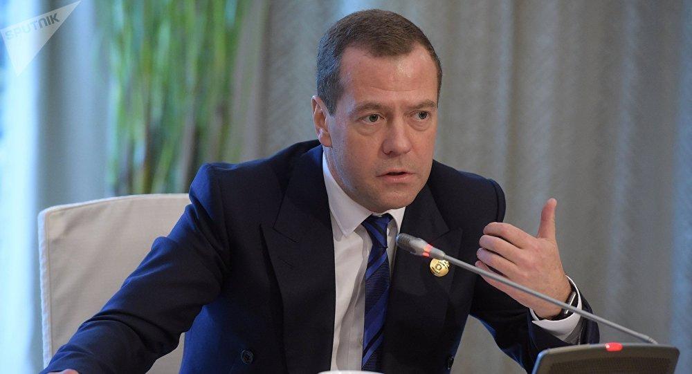 Primer ministro de Rusia Dmitri Medvédev (archivo)