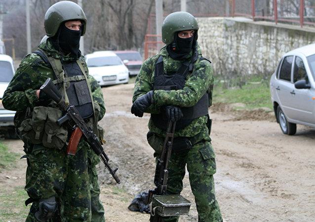 Fuerzas de seguridad de Daguestán durante una operación antiterrorista (archivo)