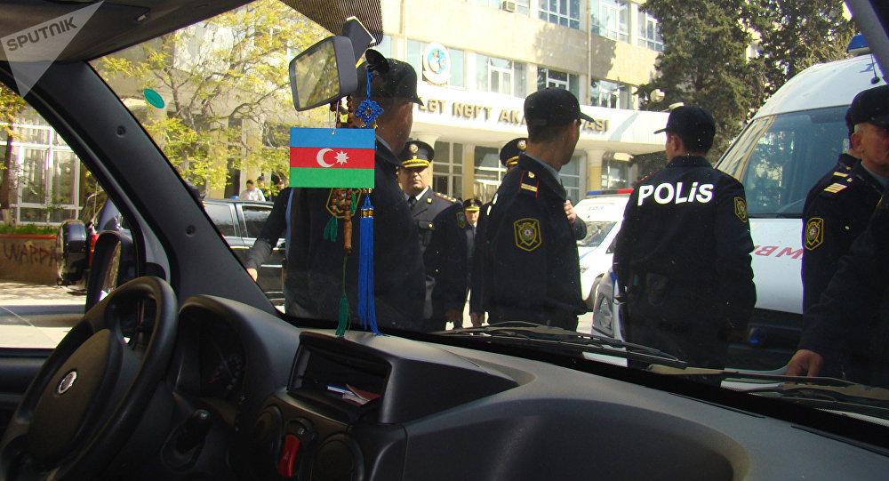 Policías de Azerbaiyán (archivo)
