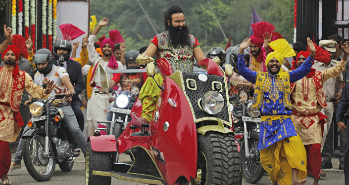 Gurmeet Ram Rahim Singh, líder religioso indio (archivo)