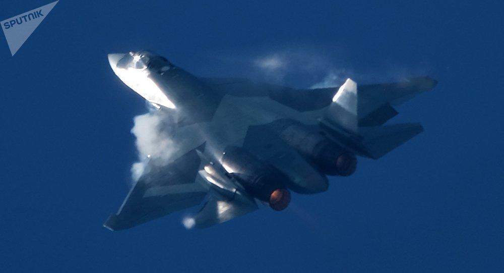 El caza ruso Su-57 (archivo)