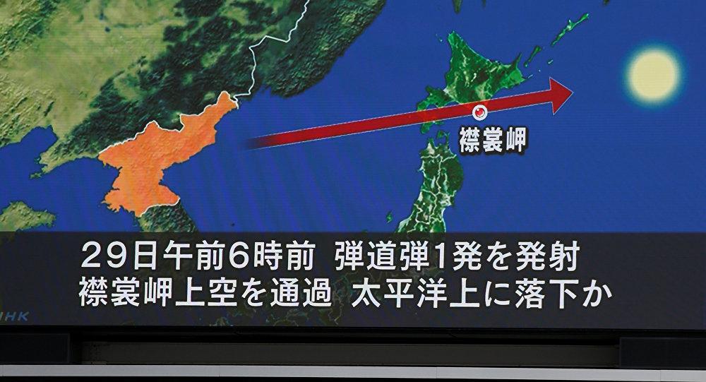 La trayectoria del nuevo misil lanzado por Corea del Norte