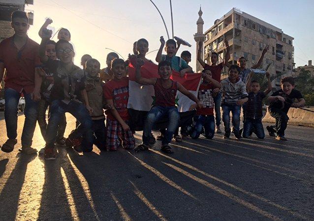 Niños en Siria (archivo)