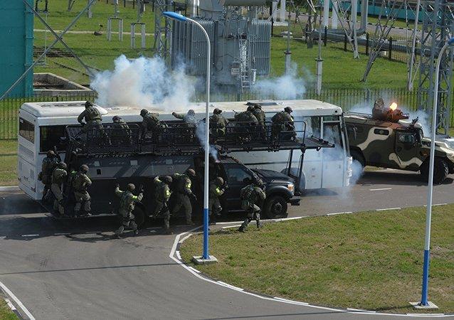 Los ejercicios conjuntos antiterroristas de la CEI (archivo)