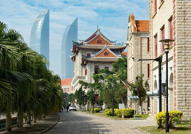 Vistas de Xiamen, una de las ciudades mas confortables de China