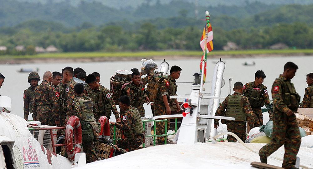 Los militares de Birmania (archivo)