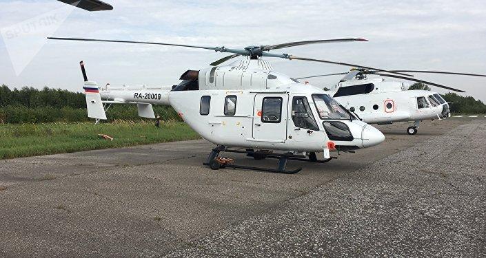 Helicóptero Ansat en la Planta de Kazán