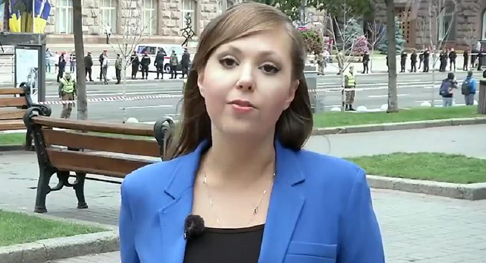 Anna Kurbátova, periodista de la cadena Canal 1 secuestrada en Ucrania