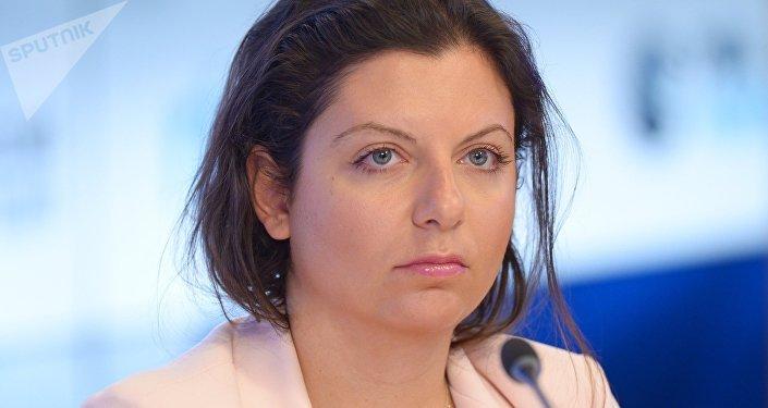 Margarita Simonián, la directora de la agencia de noticias <strong><a href=