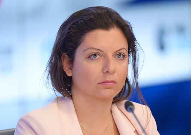Margarita Simonián, la directora de la agencia de noticias Sputnik (archivo)