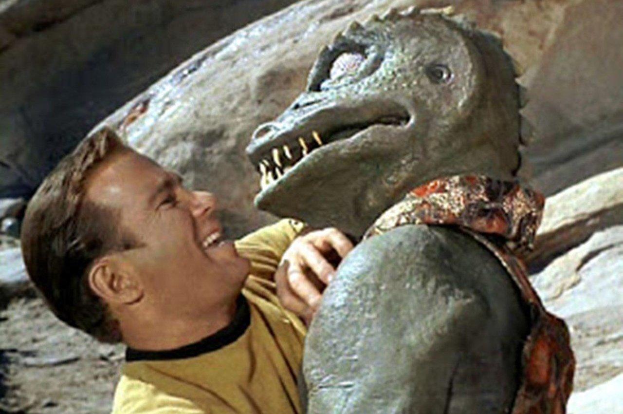 Los Gorn, una raza del universo de la serie estadounidense de ciencia ficción 'Star Trek: The Original Series', son descritos con una apariencia de lagartos humanoides.