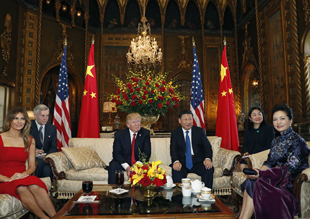 Presidente de EEUU Donald Trump y su homólogo chino Xi Jinping (archivo)