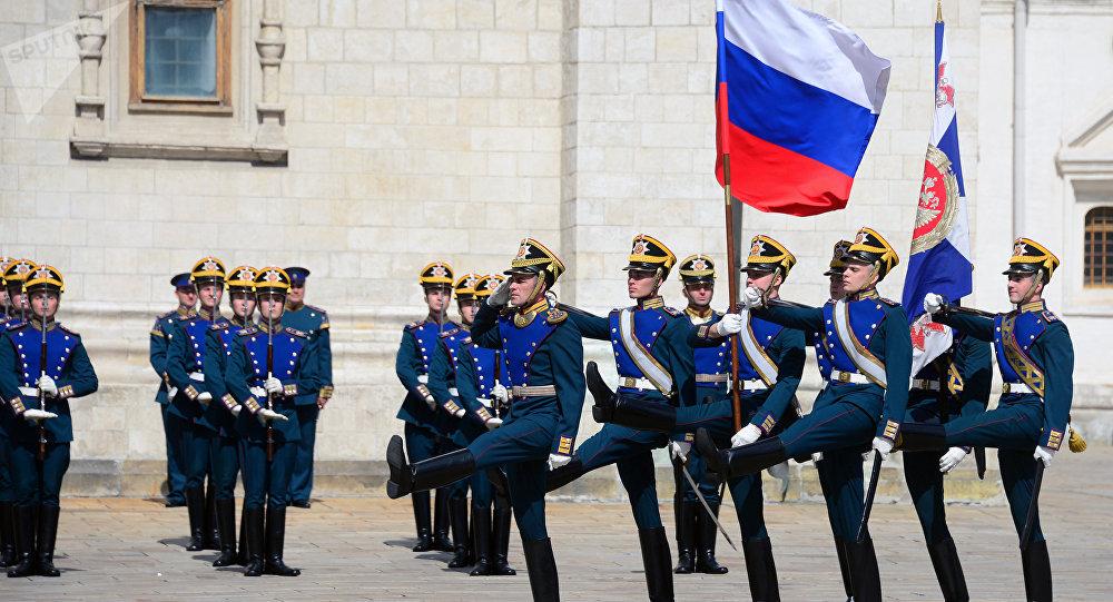 Los soldados del Regimiento Presidencial de Rusia